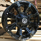20x9 Gloss Black Anthem Defender A711 5x150  5x55 12 Wheels 35X125X20 Tires