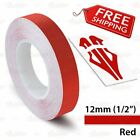 12mm 1 2 PIN STRIPE PinStriping SINGLE 1 Line TAPE Decal Vinyl Sticker RED