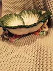 OLD WORLD RABBITS LARGE CABBAGE BOWL VINTAGE PERFECT!