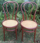 Set of 2 Antique Bentwood Chairs - Caned Seats