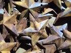 (Set of 10) Rusty Barn Stars 1.5 in 1 1/2 Primitive Country Rust SHIPS FREE!