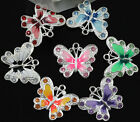 5 10Pcs Multicoloured Enamel Animal Butterfly Pendant Charms For Necklace 215MM