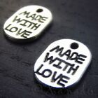 Made With Love Wholesale Silver Plated Charm Pendants C5172 20 50 Or 100PCs