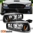 06-10 Dodge Charger Black Replacement 1 Piece LED Headlights Corner Lamps LH+RH