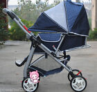 B13 Single Baby Dark Blue Fabric Collapsible Aluminum Alloy 6 Wheels Strollers