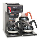 CWTF-3 Three Burner Automatic Coffee Brewer, Stainless Steel, Black BUNCWTF153LP