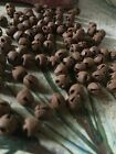 (96) 6mm Primitive Rusty Tin JINGLE BELLS 1/4 in 1/4