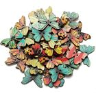 50pcs 2 Holes Mixed Butterfly Wooden Button Sewing Scrapbooking DIY Craft TS