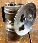 Antique Guys Dropper Brass Carbide Miners Mining Lamp with Reflector