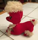 Vintage Dream Pets Dakin Red and White Poodle Dog Made in Japan