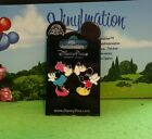 Disney New on Card Pin Mickey Minnie Mouse Magnet Kissing 2 Pin Set