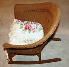 Vintage Child's Wicker Rocking Chair 1940s Very Good Condition Single Owner NR