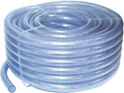 PVC Clear Braided Reinforced Hose Pipe (Choose Length) Air/Food/Gas/Water/Oil