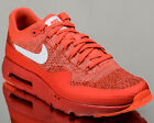 Nike Air Max 1 Ultra Flyknit mens lifestyle casual sneakers NEW bright crimson
