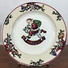 Fitz And Floyd Santa's List 1994 Christmas Salad Desert Plate 8.25