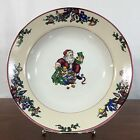 Fitz And Floyd Santa's List 1994 Christmas Serving Bowl Stoneware 9.25