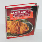 Weight Watchers Quick and Easy Menu Cookbook 1988 Hardback Dust Jacket GUC