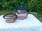 Corning Visions Pot Set 4PC. 0.5L 1.0L Amber Vintage Visions Glass Cookware