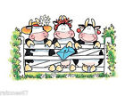 New Penny Black LADIES DIVINE Wood Rubber Stamp Cow Mail Girl Fence Flowers