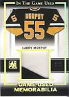 2016 LEAF ITG USED 1 1 LARRY MURPHY GOLD GAME-USED MEMORABILIA #GU-14 !!!