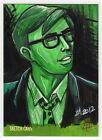 NIGHT OF THE LIVING DEAD 1968 Lynne Anderson Sketch Card Russ Streiner as Johnny
