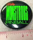 Genuine Monstrous Pinball Promo Button Bally Elvira & The Party Monsters Badge