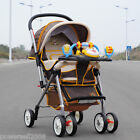 B08 Single Baby Brown Fabric Collapsible Aluminum Alloy 6 Wheels Strollers