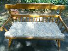 Ethan Allen Maple Deacon's Bench