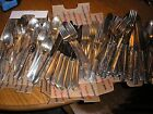 Old Silverplate Vintage Flatware Lot Silverware 91 Pcs Knives Forks Spoons Craft