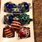 Vintage Christmas Glass Ornaments Lot Of 8