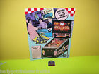 PINBALL MACHINE  NOS FLYER + NOS PLASTIC KEYCHAIN PROMO FOR WILLIAMS DINER