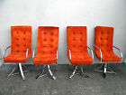 Set of Mid Century Modern Chrome Dining Chairs 5934A