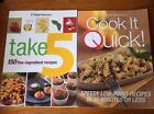 Lot of 2 Weight Watchers Cookbooks Take 5 Cook it Quick Weight Loss Diet