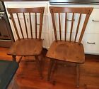 Pair Ethan Allen Heirloom Maple Nutmeg Squires Chairs 10 6000 Mid Century