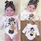 Minnie Mouse Newborn Infant Baby Boy Girls Bodysuit Romper Outfit Clothes