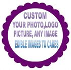 CUPCAKES CIRCLE EDIBLE PHOTO CAKE IMAGE CUSTOM ANY IMAGE ENGLISH SPANISH