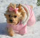 DOG SNOW SUIT teacup yorkie chihuahua tiny DESIGNER DOG SNOW JACKET pink clothes