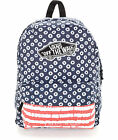 VANS REALM RED WHITE BLUE DYED DOTS BACKPACK 100 AUTHETIC MSRP 38 NEW w TAG