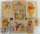 Winnie the Pooh Rubber Stamp Wood Mount and Friends Disney Tigger Piglet U PICK