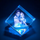 3D Laser Crystal Glass Personalized Etched Engrave Gift Anniversary Diamond L