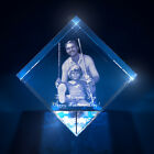 3D Laser Crystal Glass Personalized Etched Engrave Gift Fathers Day Diamond M
