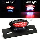 CRUISER CUSTOM MOTORCYCLE BLACK LICENSE PLATE HOLDER MOUNT LED BRAKE TAIL LIGHT