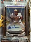 2016 Topps Tribute Black Parallel Rickey Henderson on card Auto Autograph #d 1 1