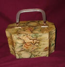 *Rare* Vintage Original Box Bag 3D Wood Purse Raised Shell Design Minty