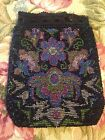 Beautiful Antique Beaded Drawstring Purse! Stunning Design!