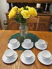 Johnson Brothers Snowhite Regency Ironstone White Swirl Cup and Saucer