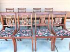 Beautiful c.1937 Duncan Phyfe Drop Leaf Dining SET, Solid Mahogany