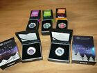 2012,2013,2014,2016 $5 Coloured Fine Silver Proof Domed Coin- 5 coins together