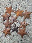 TEN 10 ~MINI ~2.25 inch Rusty BARN STARS Primitive Country Rustic Craft Supply