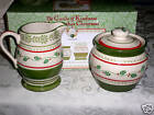 PFALTZGRAFF CIRCLE OF KINDNESS CHRISTMAS CREAM SUGAR SET